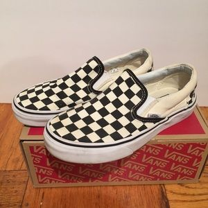 Vans Classic Checkerboard Slip On Sz 6
